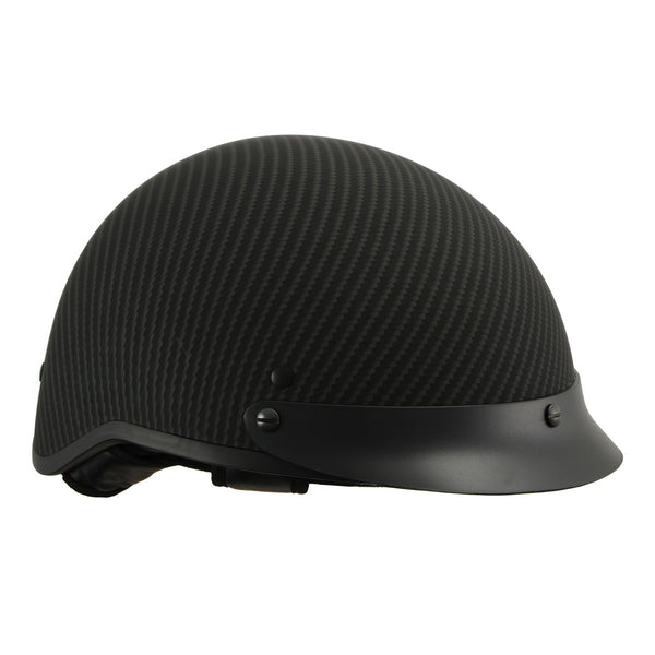Milwaukee Performance Helmets Mens Size half helmet MAT BLACK XS