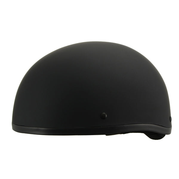 Milwaukee Performance Helmets MPH9770DOT Americas Smallest Matte Black Half Helmet - Milwaukee Performance Half Helmets
