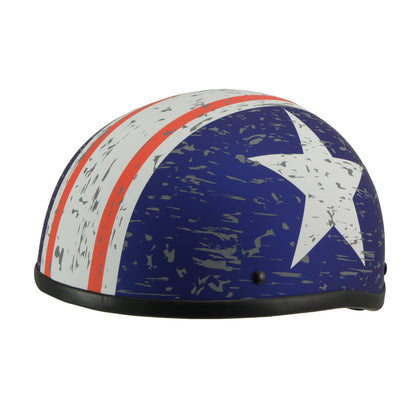Milwaukee Performance Helmets MPH9774DOT 'Vintage Star' DOT Half Face Helmet - Milwaukee Performance Half Helmets