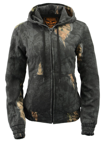 Milwaukee Performance MPL2779 Ladies Zipper Front Mossy Oak Eclipse Hoodie - Milwaukee Leather Perfomance Hoodies