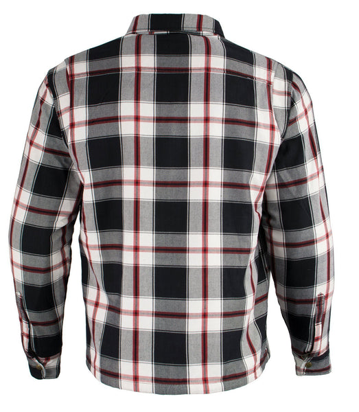 Large Milwaukee Performance MPM1625 Mens Armored Flannel Shirt with Aramid by DuPont Fibers