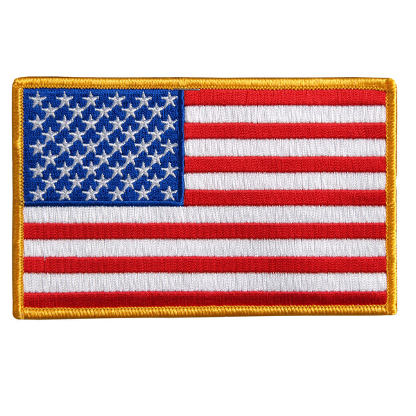 "Hot Leathers PPA1226 American Flag Patch 10"" x 6"" - Hot Leathers Patches"