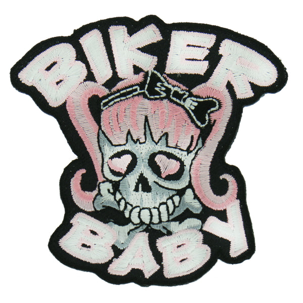 "Hot Leathers PPA2052  Biker Baby Pigtails 3"" x 3"" Patch - Hot Leathers Patches"