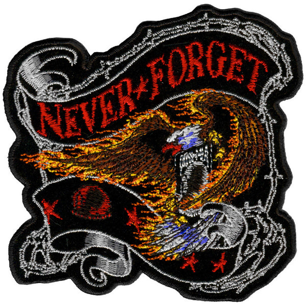 "Hot Leathers PPA3007 Never Forget Eagle 12"" x 12"" Patch - Hot Leathers Patches"