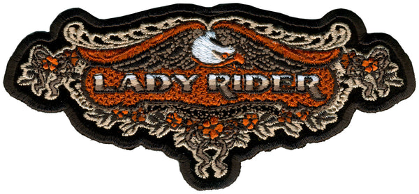 "Hot Leathers PPA3980 Lace Eagle Lady Rider Patch 5"" x 2"" - Hot Leathers Patches"