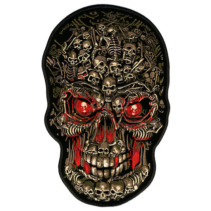 "Hot Leathers PPA4027 Skull Made of Skulls Patch 8"" x 12"" - Hot Leathers Patches"
