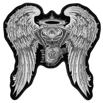 "Hot Leathers PPA5197 Asphalt Angel Lady Biker 10"" x 10"" Patch - Hot Leathers Patches"
