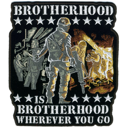 "Hot Leathers PPA5707 Brotherhood Wherever You Go 10"" x 11"" Patch - Hot Leathers Patches"