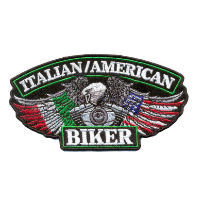 "Hot Leathers PPA5890 Italian American Biker 5"" x 3"" Patch - Hot Leathers Patches"