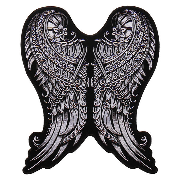 "Hot Leathers PPA9187 Ornate Angel Wings 9""x10"" Patch - Hot Leathers Patches"