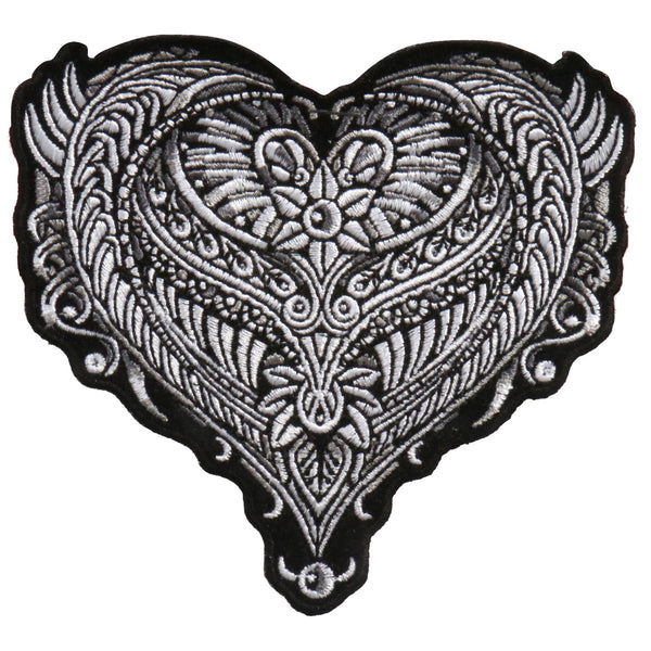 "Hot Leathers PPA9200 Ornate Heart 4"" x 4"" Patch - Hot Leathers Patches"