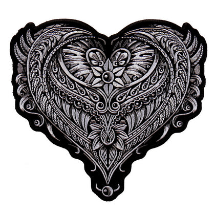 "Hot Leathers PPA9208 Ornate Heart 8""x8"" Patch - Hot Leathers Patches"
