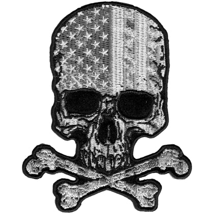 "Hot Leathers PPA9450 Flag Skull 3"" x 4"" Patch - Hot Leathers Patches"