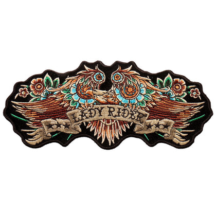 "Hot Leathers PPA9777 Lady Rider Banner Eagle 8""x3"" Patch - Hot Leathers Patches"