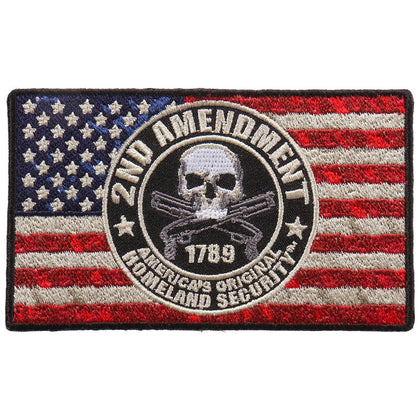 "Hot Leathers PPA9843 2nd Amendment Flag 4""x2"" Patch - Hot Leathers Patches"