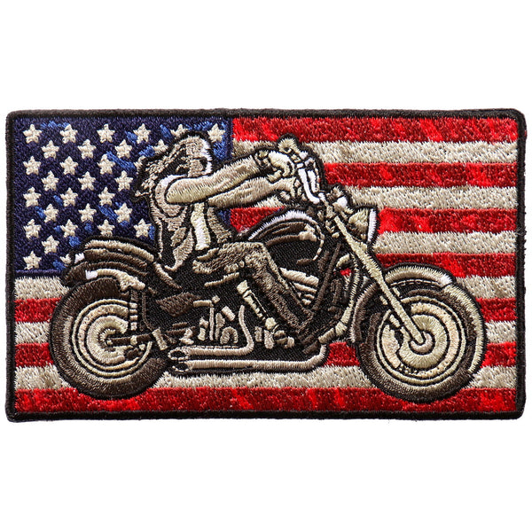 "Hot Leathers PPA9893 Biker Flag 4""x2"" Patch - Hot Leathers Patches"