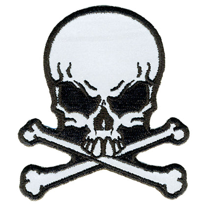 "Hot Leathers PPB1060 Refliective Skulls N BNS 3"" x 3"" Patch - Hot Leathers Patches"