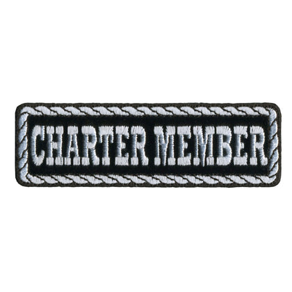 "Hot Leathers PPD1016 Charter Member 4"" x 1"" Patch - Hot Leathers Patches"