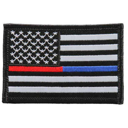 Hot Leathers PPF5113 3 Inch Thin Red Blue Line 3 Inch Patch - Hot Leathers Patches