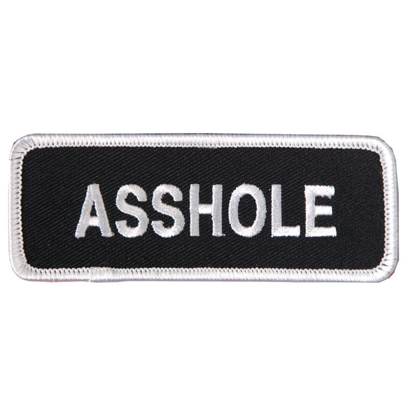 "Hot Leathers PPL9002 Asshole 4"" x 2"" Patch - Hot Leathers Patches"