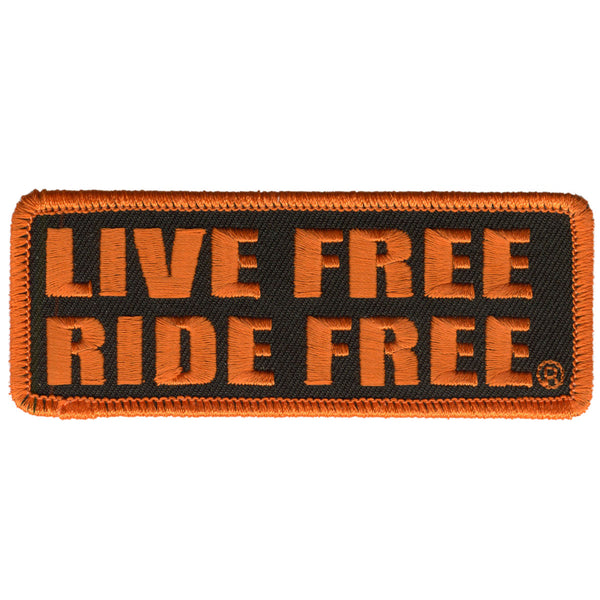 "Hot Leathers PPL9197 Live Free Ride Free 4"" x 2"" Patch - Hot Leathers Patches"