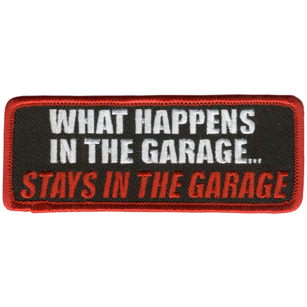 "Hot Leathers PPL9205  In The Garage 4"" x 2"" Patch - Hot Leathers Patches"