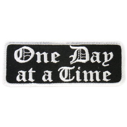 "Hot Leathers PPL9224  One Day At A Time 4"" x 2"" Patch - Hot Leathers Patches"