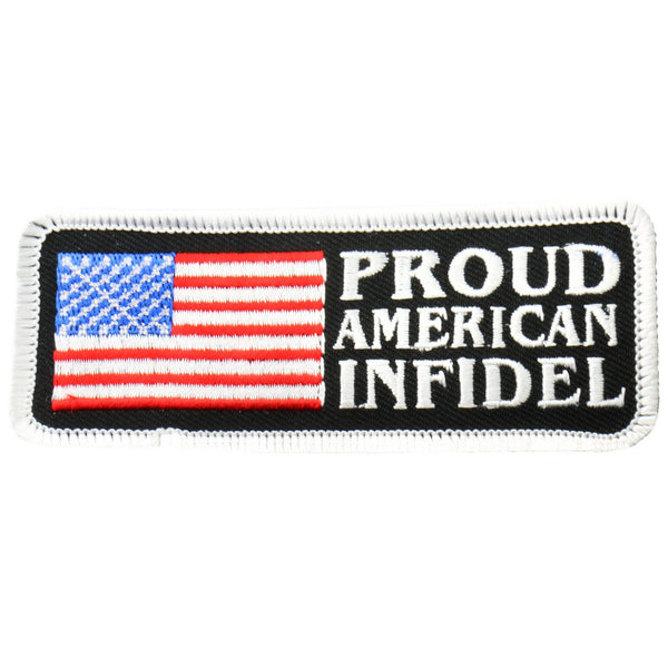 "Hot Leathers PPL9226  American Infidel 4"" x 2"" Patch - Hot Leathers Patches"
