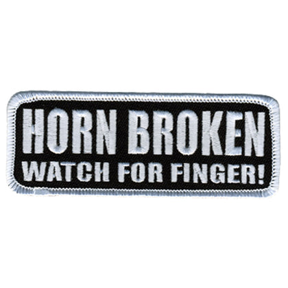 "Hot Leathers PPL9246  Horn Broken 4"" x 2"" Patch - Hot Leathers Patches"