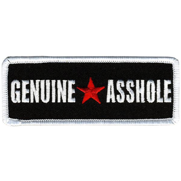 "Hot Leathers PPL9258  Genuine Asshole 4"" x 2"" Patch - Hot Leathers Patches"