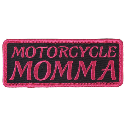 "Hot Leathers PPL9336  Motorcycle Momma Embroidered 4"" x 2"" Patch - Hot Leathers Patches"