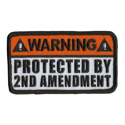"Hot Leathers PPL9361 Protected by 2nd Amendment 4"" x 2"" Patch - Hot Leathers Patches"