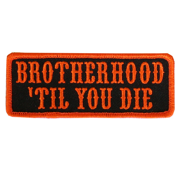 "Hot Leathers PPL9468 Bro Til You Die Embroidered 4""X2"" Patch - Hot Leathers Patches"