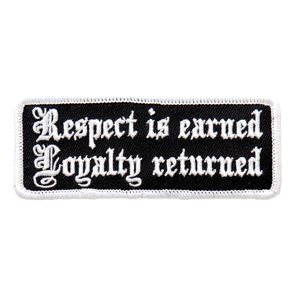 "Hot Leathers PPL9498 Respect Is Earned 4""x1"" Patch - Hot Leathers Patches"