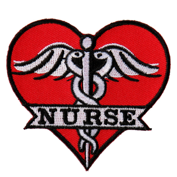 "Hot Leathers PPL9537 Nurse Heart 3""x3"" Patch - Hot Leathers Patches"