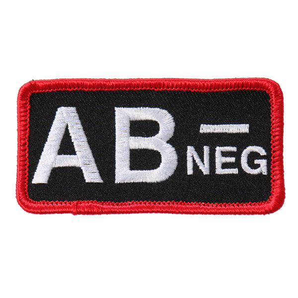 "Hot Leathers PPL9543 Blood Type AB Neg 3""x2"" Patch - Hot Leathers Patches"