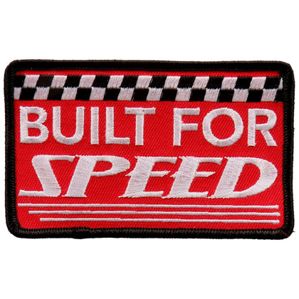 "Hot Leathers PPL9674 Built for Speed 4""x3"" Patch - Hot Leathers Patches"
