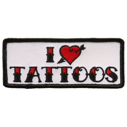 "Hot Leathers PPL9686 I Heart Tattoos 4""x2"" Patch - Hot Leathers Patches"
