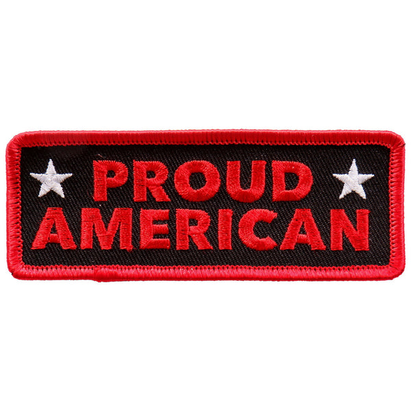 "Hot Leathers PPL9692 Proud American 4""x2"" Patch - Hot Leathers Patches"