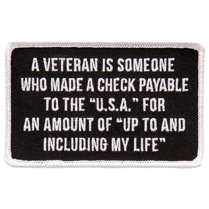 "Hot Leathers PPL9717 Veteran 4""x3"" Patch - Hot Leathers Patches"