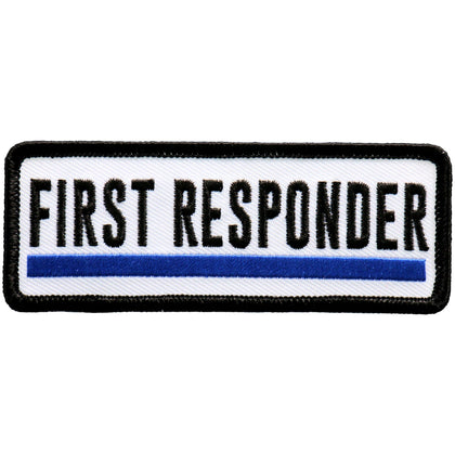 Hot Leathers PPL9743 4 Inch First Responder Blue Line Patch - Hot Leathers Patches