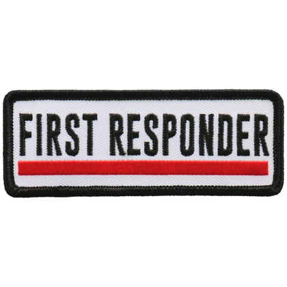 Hot Leathers PPL9744 4 Inch First Responder Red Line Patch