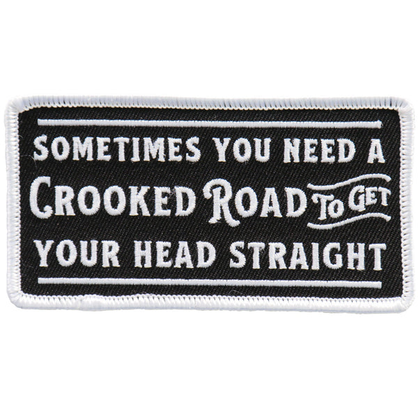 Hot Leathers PPL9745 4 Inch Crooked Road Patch - Hot Leathers Patches