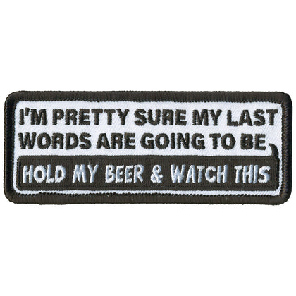 "Hot Leathers PPL9786 My Last Words 4""x 2"" Patch - Hot Leathers Patches"