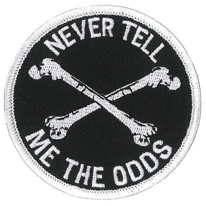 "Hot Leathers PPL9818 Never Tell Me the Odds 3""x 3"" Patch"