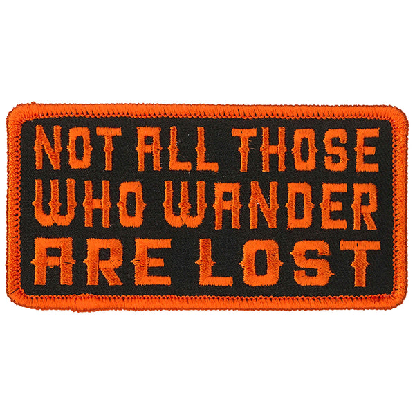 "Hot Leathers PPL9820 Wander Lost 4""x 2"" Patch"