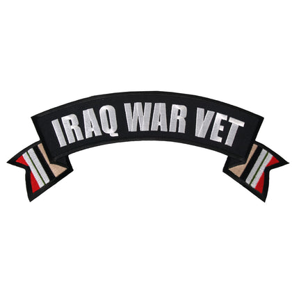 "Hot Leathers PPM2106 Iraq War Vet Banner 4"" x 1"" Patch - Hot Leathers Patches"