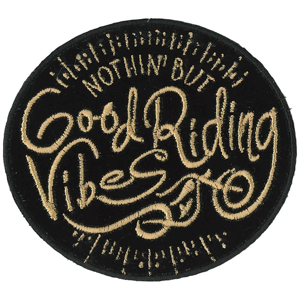 "Hot Leathers PPQ1110 Good Riding Vibes 3"" Patch"