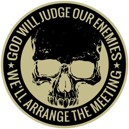 Hot Leathers PPQ1457 God Will Judge 9'' Patch
