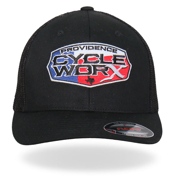 Hot Leathers PWA1005 Official Providence Cycle Worx Texas Patch Hat - Hot Leathers Hats and Caps